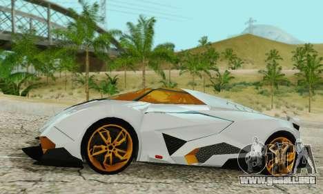 Lamborghini Egoista para GTA San Andreas left