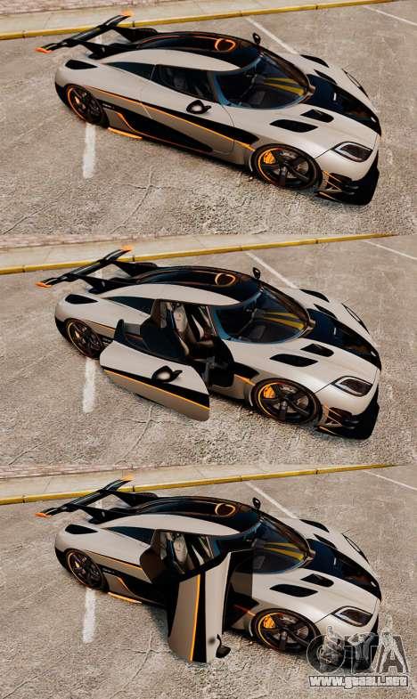 Koenigsegg One:1 [EPM] para GTA 4 vista superior