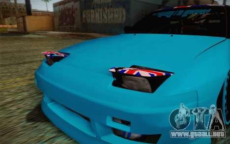 Nissan 240SX Drift Stance para vista lateral GTA San Andreas
