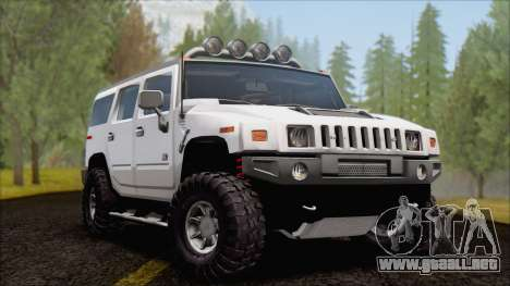 Hummer H2 Tunable para visión interna GTA San Andreas