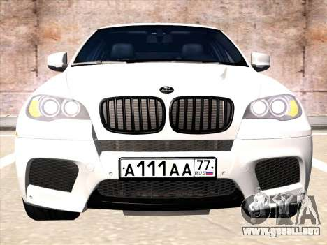 BMW X6 Hamann para GTA San Andreas left