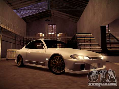 Nissan Silvia S15 Stanced para GTA San Andreas vista hacia atrás