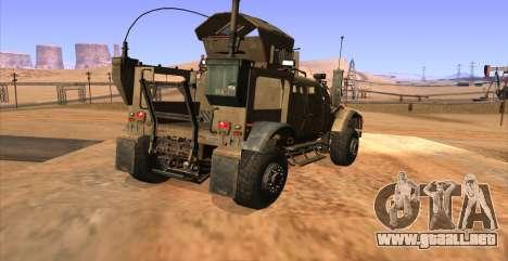 M-ATV из de Call of Duty: Ghosts para GTA San Andreas left