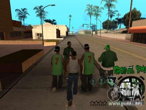 C-HUD Groove Street para GTA San Andreas octavo de pantalla