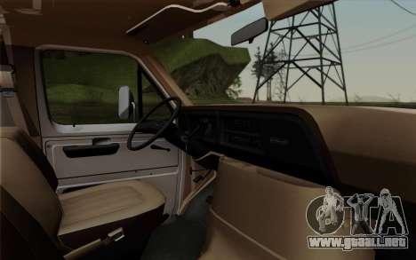 Ford E-350 1982 para la visión correcta GTA San Andreas