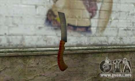 Maquinilla de afeitar para GTA San Andreas segunda pantalla