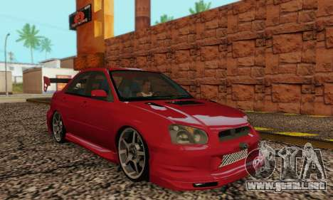 Subaru Impreza WRX Stock para GTA San Andreas vista hacia atrás