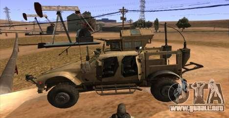 M-ATV из de Call of Duty: Ghosts para GTA San Andreas vista hacia atrás