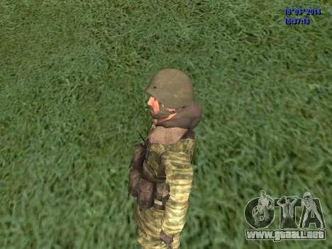 Militar en camuflaje para GTA San Andreas tercera pantalla