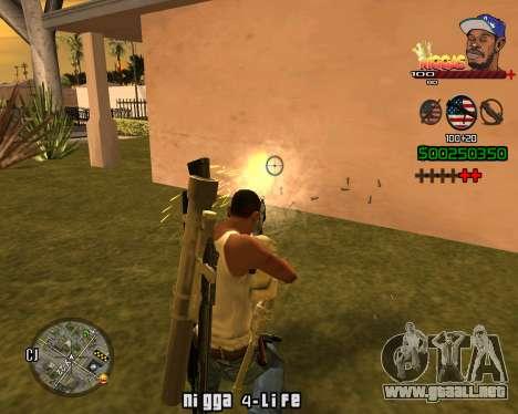 C-HUD Niggas para GTA San Andreas sucesivamente de pantalla