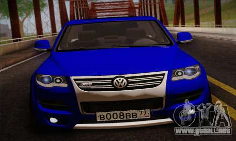 Volkswagen Touareg 2010 para GTA San Andreas vista posterior izquierda