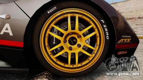 Pagani Zonda C12 S Roadster 2001 PJ4 para GTA 4 vista hacia atrás