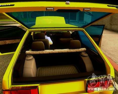 VAZ 2108 Sintonizable para visión interna GTA San Andreas