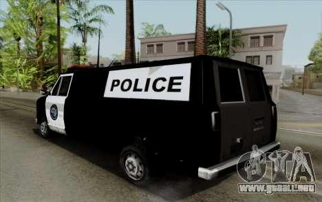 S.W.A.T van para GTA San Andreas left