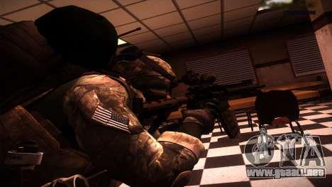 Ranger из De Call of Duty: Ghosts para GTA San Andreas segunda pantalla