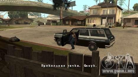 Fuente nueva V.2 para GTA San Andreas sucesivamente de pantalla