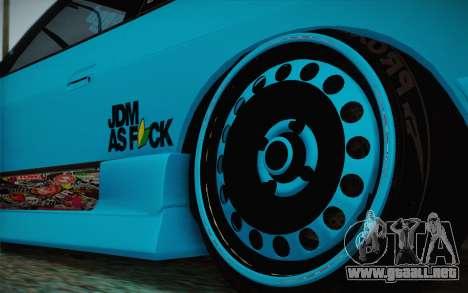 Nissan 240SX Drift Stance para GTA San Andreas vista hacia atrás
