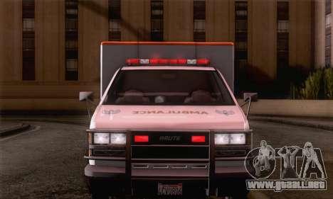 GTA 5 Ambulance para GTA San Andreas vista posterior izquierda