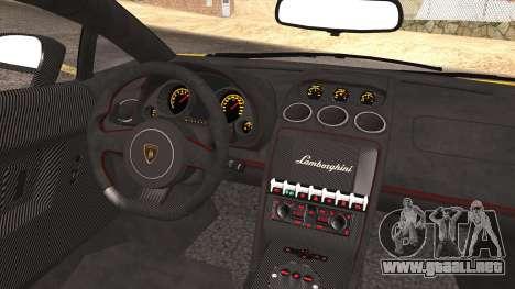 Lamborghini Gallardo LP570-4 Edizione Tecnica para vista inferior GTA San Andreas