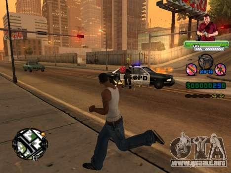 C-HUD Michael (GTA V) para GTA San Andreas sucesivamente de pantalla
