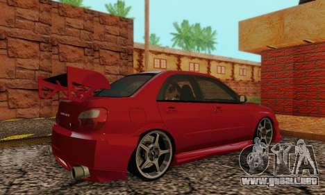 Subaru Impreza WRX Stock para la visión correcta GTA San Andreas