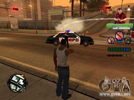 C-HUD Michael (GTA V) para GTA San Andreas quinta pantalla