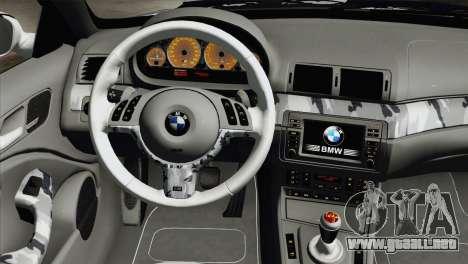 BMW M3 E46 Camo para la visión correcta GTA San Andreas