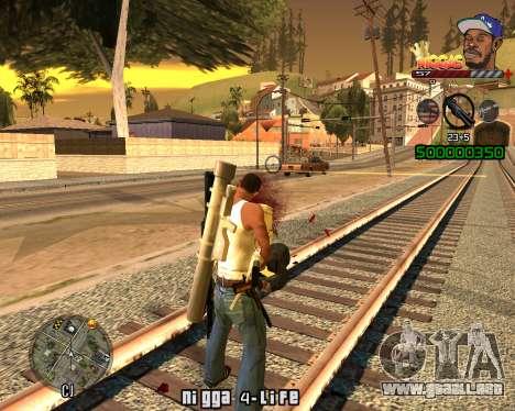 C-HUD Niggas para GTA San Andreas segunda pantalla