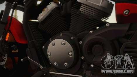 Yamaha Star Stryker 2012 para GTA San Andreas vista posterior izquierda