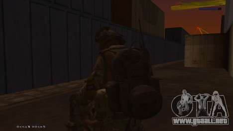 Ranger из De Call of Duty: Ghosts para GTA San Andreas sexta pantalla