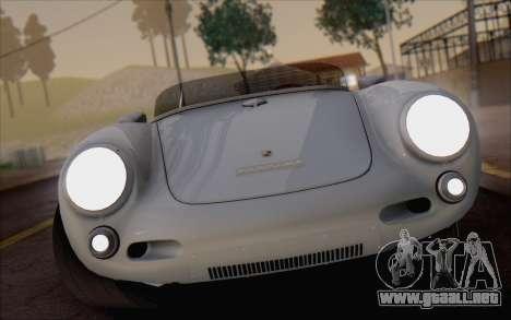 Porsche 550 Spyder 1955 para GTA San Andreas vista hacia atrás