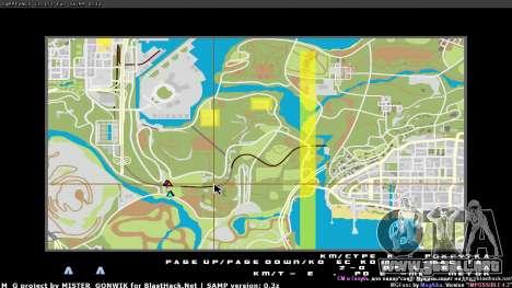 Mapa en tiempo real para GTA San Andreas segunda pantalla