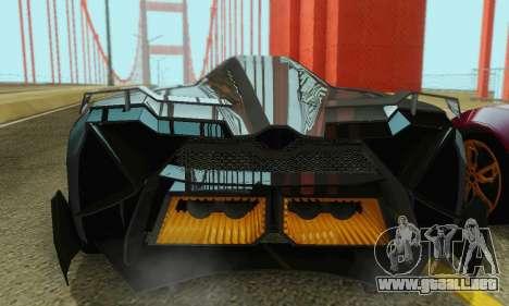 Lamborghini Egoista para GTA San Andreas interior