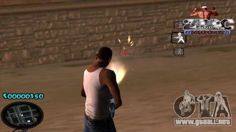 C-HUD 2PAC para GTA San Andreas tercera pantalla