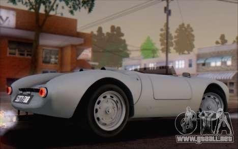 Porsche 550 Spyder 1955 para GTA San Andreas left