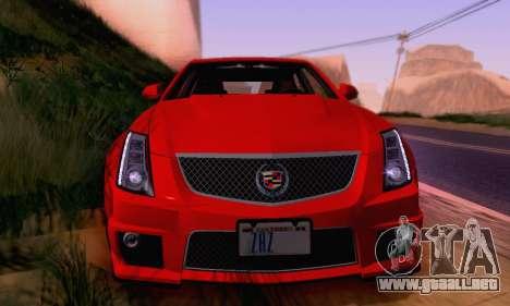 Cadillac CTS-V Sedan 2009-2014 para el motor de GTA San Andreas