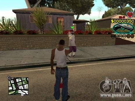 C-HUD Guns para GTA San Andreas tercera pantalla