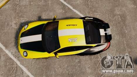 Porsche 911 Sport Classic 2010 RACE para GTA 4 visión correcta