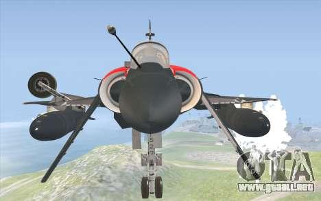 Dassault Mirage 2000-C para la visión correcta GTA San Andreas