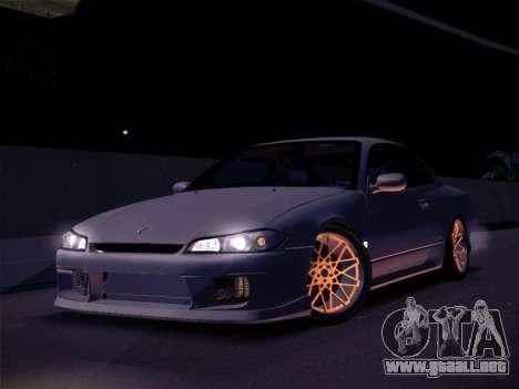 Nissan Silvia S15 Stanced para GTA San Andreas vista posterior izquierda