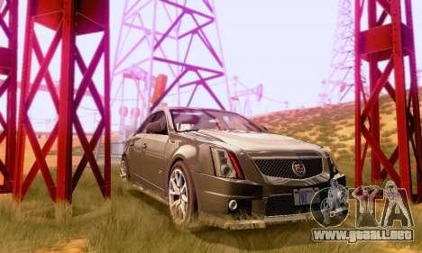 Cadillac CTS-V Sedan 2009-2014 para visión interna GTA San Andreas