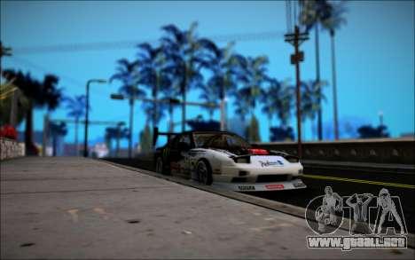Nissan 240SX Monster Energy para GTA San Andreas vista hacia atrás