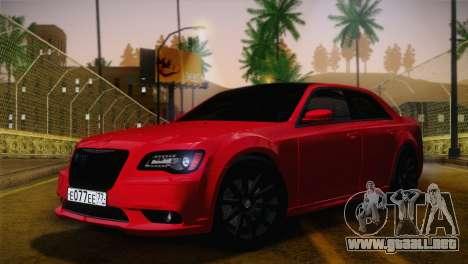 Chrysler 300 SRT8 Black Vapor Edition para visión interna GTA San Andreas