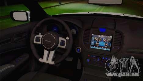 Chrysler 300 SRT8 Black Vapor Edition para la visión correcta GTA San Andreas