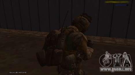 Ranger из De Call of Duty: Ghosts para GTA San Andreas quinta pantalla