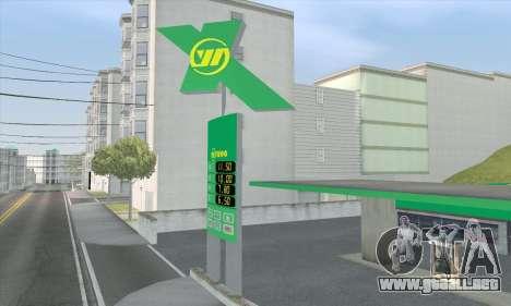 El relleno en el estilo de WOG para GTA San Andreas sexta pantalla