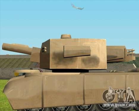 Rhino tp. Destructivo V.2 para GTA San Andreas vista posterior izquierda