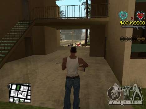 C-HUD Guns para GTA San Andreas octavo de pantalla
