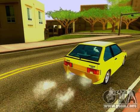VAZ 2108 Sintonizable para GTA San Andreas vista posterior izquierda