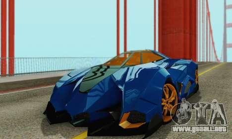Lamborghini Egoista para visión interna GTA San Andreas